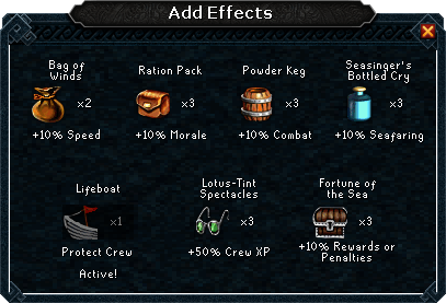 Add effects interface