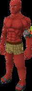 Zamorak red skin equipped