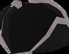 Black tricorn hat detail
