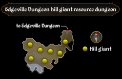 Edgeville Dungeon hill giant resource dungeon map