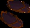 Eastern sandals (purple, female) detail