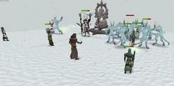 Ice demon battle