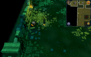 Scan clue Brimhaven Dungeon lower level north of entrance to Brimhaven resource dungeon