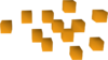 Orange chunks detail