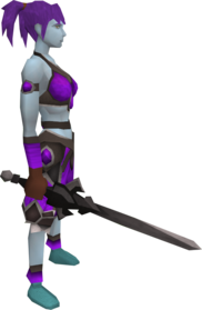 Lucky chaotic longsword equipped