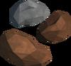 Bronze nuggets detail