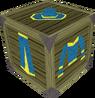Gold-trimmed blue wizard set detail