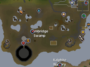 Lumbridge Swamp map