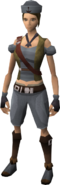 Western Crew's outfit equipped (female)