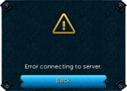 Login error interface