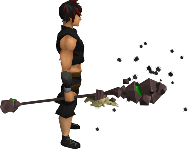 File:Skeletal battlestaff of earth equipped.png