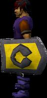 Steel kiteshield (Varrock) equipped