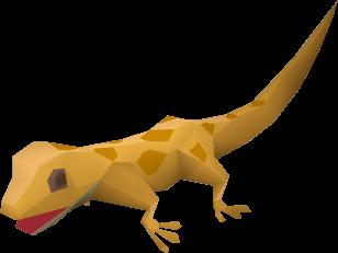 Gecko (orange) pet
