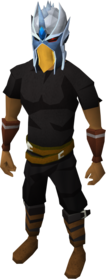 Mighty slayer helmet equipped