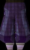 Purple elegant legs detail