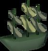 Model ship (silk) detail