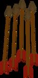 Bronze arrow detail