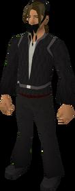 Fake pirate beard (black) equipped