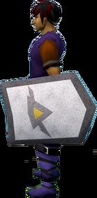 Rune kiteshield (Dorgeshuun) equipped