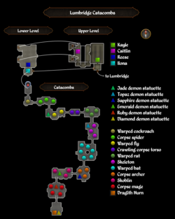 Lumbridge Catacombs map