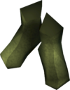 Elf-style boots (green) detail