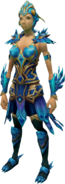 Crystal Peacock Armour equipped (female)