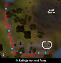 Dwarf Cannon railings map