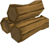 Oak logs detail