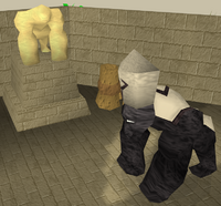 Gorilla statue and Hafuba