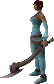 Jessika's sword equipped