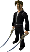 Dragon Rider blades equipped