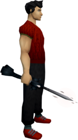 Seismic wand (Third Age) equipped