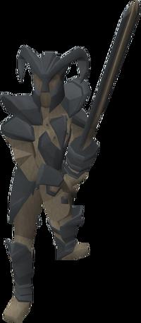 Fine knight statue