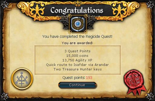 Regicide reward