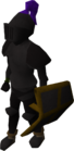 Black armour equipped old