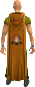 Hooded firemaking cape equipped