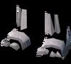 Skeleton boots detail