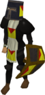 Black heraldic armour set 5 (lg) equipped old