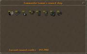 Commander Loman's reward shop