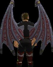 Drakan's wings equipped