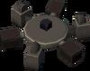 Empty cannon base detail