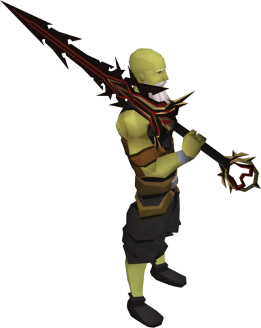 File:Lucky Zamorak godsword equipped.png