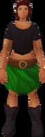 Retro rustic miniskirt