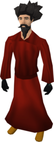 Zamorak robes equipped