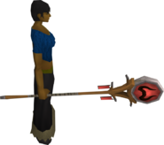 Banner of Zamorak equipped