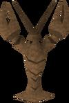 Burnt crayfish detail