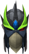 Full slayer helmet (charged) (green) detail