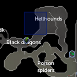 Taverley hellhound resource dungeon entrance location