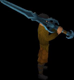Rune 2h sword equipped