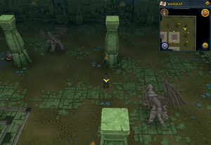 Scan clue Brimhaven Dungeon lower level north-east corner of the chamber containing iron and steel dragons